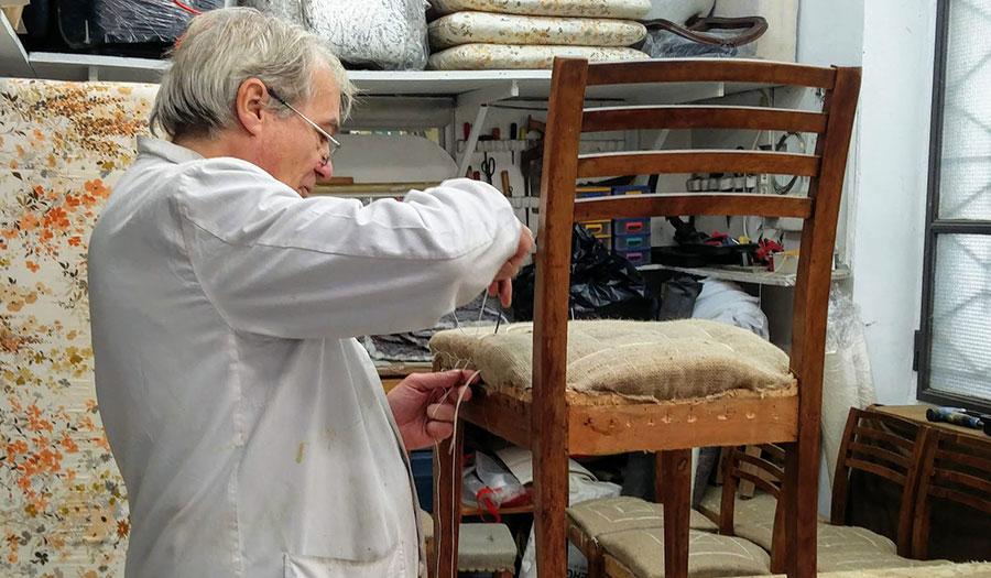 Lavorazioni artigianali di tappezzeria