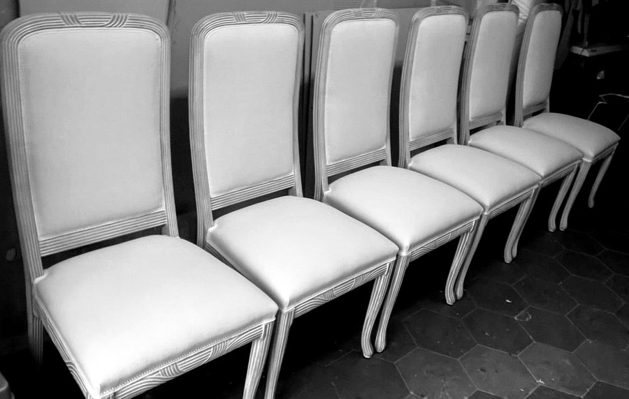 Rifacimento totale sedie schienale alto